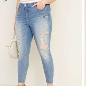 Women's Plus Sz 22 OLD NAVY Distressed Jeans ~NEW
